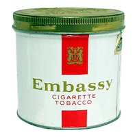 Advertising Tobacco Tin Foe Embassy Cigarette Tobacco
