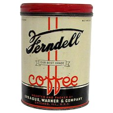 Ferndell Advertising Coffee Tin Chicago