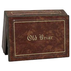 SOLD    Advertising Tin For Old Briar Pocket Tobacco Tin