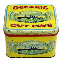 Advertising Tobacco Tin For Oceanic Cut Plug