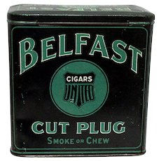 SOLD   See other tins ON SALE   Advertising Tobacco Tin For Belfast Cut Plug