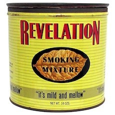 SOLD   Advertising Tin For Revelation Pipe Tobacco