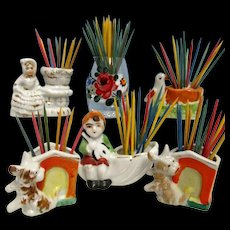 Tooth Pick Holder   $10 each Six to Choose From Porcelain or Glass