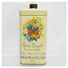 Advertising Garden Bouquet Talcum Powder Talc Tin