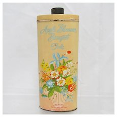 Advertising Talc Tin Apple Blossom Bouquet