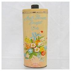 Advertising Talc Tin Apple Blossom Bouquet
