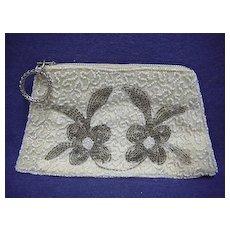 Beaded Hand Bag or Purse  Art Nouveau Design