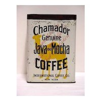 Advertising Coffee Tin For Chamador Java & Mocha Coffee