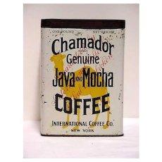 Advertising Coffee Tin For Chamador Java & Mocha Coffee