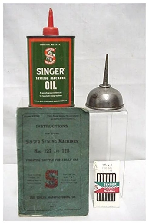 Advertising Singer Sewing Machine Book Oil Cans And Needles Drury Stunning How To Oil A Singer Sewing Machine