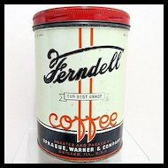 Advertising Coffee Tin Ferndell