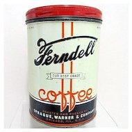 Advertising Coffee Tin Ferndell