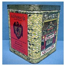 Advertising Tea Tin For S S Pierce Boston