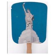 Statue of Liberty Fan Advertising Liberty National Insurance Co.
