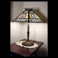 Table Lamp Filigree Overlay Panel Lamp