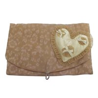 Silk and Satin Hosiery Satchel with Potpourri Heart Sachet