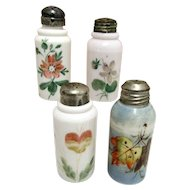 Four American Glass 1890 Shakers