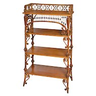 Wakefield Rattan Company Natural Finish Wicker Etagere
