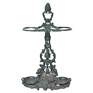 Victorian cast iron umbrella or cane holder