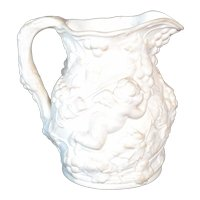 Minton Victorian jug with putti and grapes