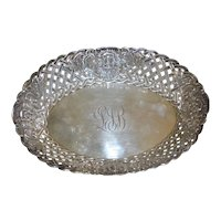 Gorham Sterling silver bowl with an open lattice work design