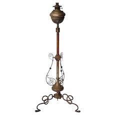 J.D. Boyd & Co brass Victorian piano lamp