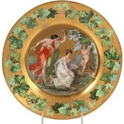 Cupid portrait porcelain plate made by Schlegelmilch