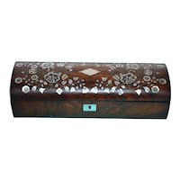 Victorian rosewood and Mother-of-pearl box