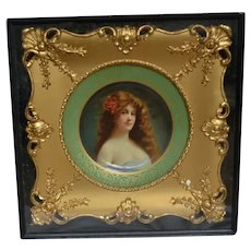 Kemper-Thomas Co, Cincinnati, Ohio metal art plate dated 1905 in gilt frame