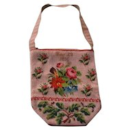 Dated beaded purse with floral design