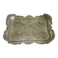 Tiffany & Co sterling silver asparagus tray with floral work