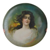 Huge Metal Victorian Portrait Charger