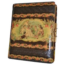 Ornate Photo Album with Woman and Children