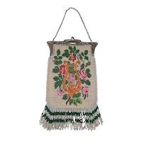 Exquisite Beaded Bag with Greek Lyre Motif