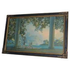 Large Maxfield Parrish Daybreak Art Deco Period Framed Print
