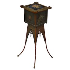 Charles Parker Aesthetic Victorian brass work table or jewelry casket