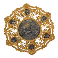 "Fabulous Italian brass/bronze plaque with ""REGISTRADO"" embossed in the back"