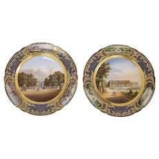 Pair of Scenic Portrait Plates