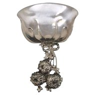 Chrysanthemum Sterling Bon Bon Spoon Signed Tiffany & Co