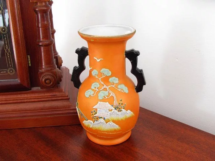 9cfa1c0890c89 Vintage Art Deco Asian / Japan / Oriental / vase / figural / satsuma / :  Sunday and Sunday | Ruby Lane