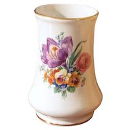 Vintage Burleigh Ware pottery Burgess and Leigh Burslem England 6362 white floral vase / ceramic / earthenware / shabby chic / home decor