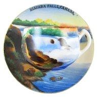 Vintage hand painted Nigara Falls Canada / souvenir / demitasse cup and saucer / porcelain / china / bone china / tea / coffee / espresso