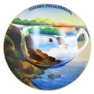 Vintage hand painted Nigara Falls Canada / souvenir / demitasse cup and saucer / porcelain / china / bone china / tea / coffee / espresso