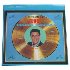 1963 Elvis Presley Volume 3 Great Hits vinyl LP Golden Records 1963 RCA Victor lpm/lsp-2765 - Red Tag Sale Item