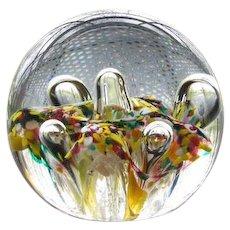 Antique decorative art glass Italian Millefiori desk paper weight