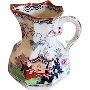 Antique Masons Ironstone China hand painted porcelain ceramic pitcher