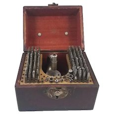 Vintage K & D Kendrick and Davis staking set in wood box / watchmaker / watch repair / pocket watch / wrist watch