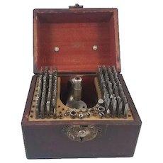 Vintage K & D Kendrick and Davis staking set in wood box / watchmaker / watch repair / pocket watch / wrist watch