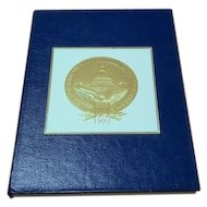 President William Jefferson Clinton vice president Albert Gore collectible keepsake inaugural blue leatherette bound notebook embossed seal