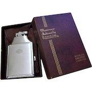Cigarette case lighter Ronson chrome vintage Art Deco M129 C&E Near Mint Unused Old Stock